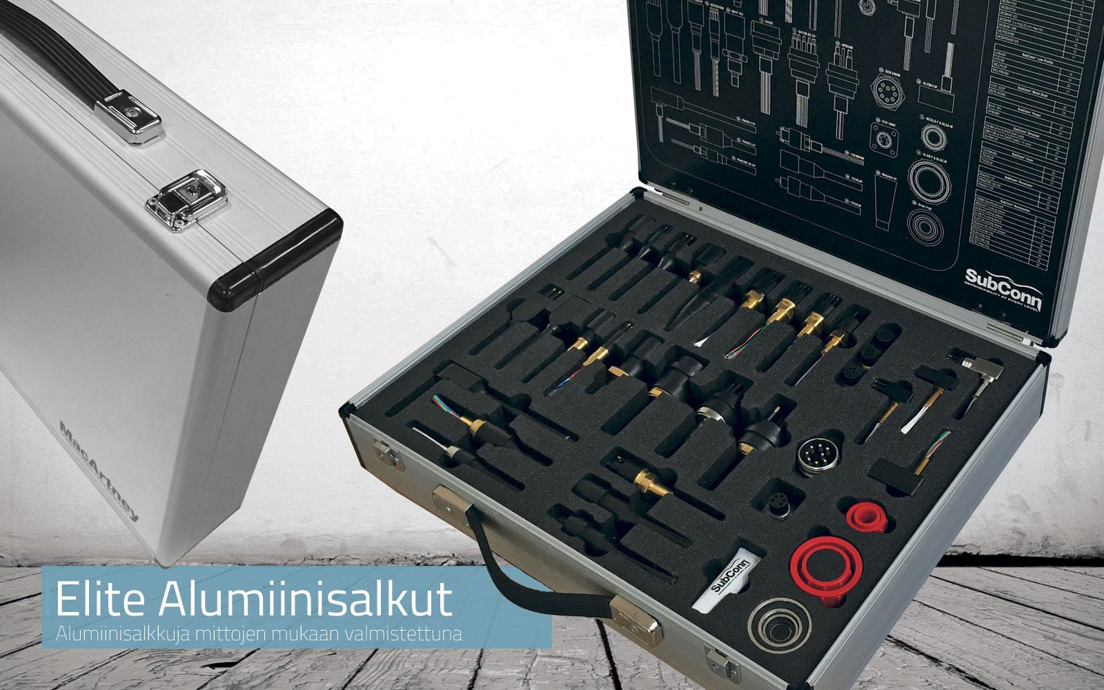 Alumiinisalkkuja mittojen mukaan valmistettuna